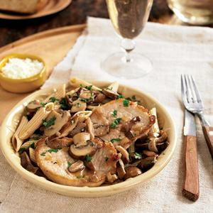 Pork Marsala with Wild Mushrooms