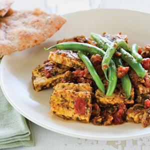Green Bean and Tempeh Saute