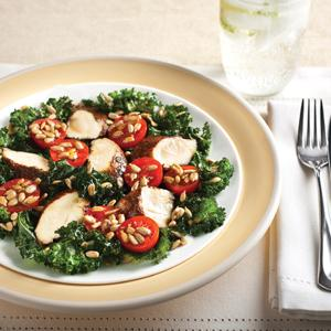 Spicy Cocoa Chicken with Crispy Kale