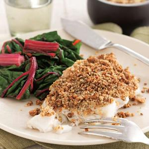 Almond Dukkah-Dusted Cod