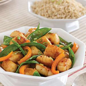 Spicy Scallop and Snow Pea Stir-Fry