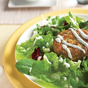 Salmon Patties w/ Citrus Yogurt Dressing