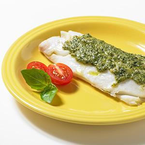 Pesto Baked Haddock