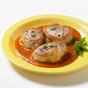 Pork Medallions with Thai Curry Sauce