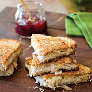 Turkey Reuben Sandwiches