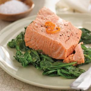 Green Tea-Tangerine Salmon