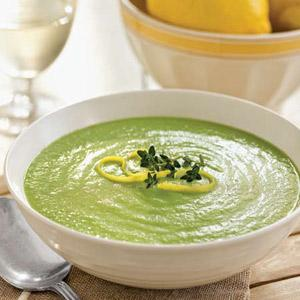 Creamy Lemon Pea Soup