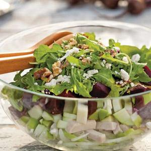Turkey with Roasted Beets and Raspberry Vinaigrette