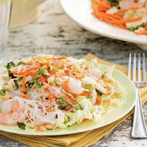 Thai Salad with Shrimp and Sesame Dressing