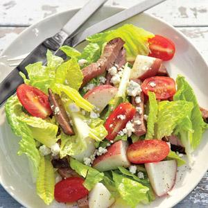 Roast Beef and Potato Salad with Blue Cheese Vinaigrette