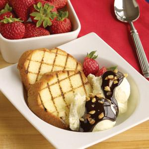 Grilled Pound Cake Double Chocolate Sundaes at Hannaford