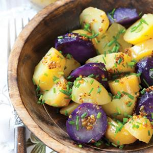 Purple and White Potato Salad with Chives