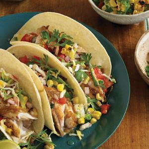 Fish Tacos with All the Fixins