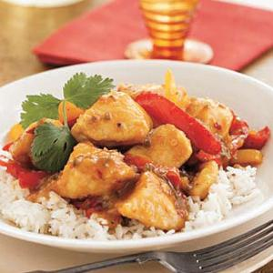 Serrano Orange Chicken with Jasmine Rice