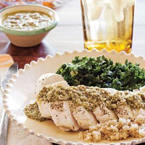 Chicken Breasts with Pumpkin Seed Mole Verde