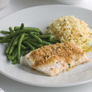 Baked Haddock with Rice Pilaf & Veggies