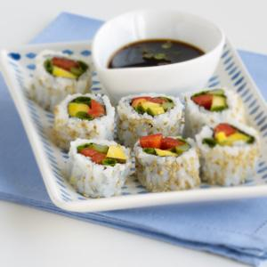 Colorful Fruit & Veggie Maki Rolls