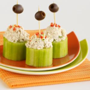 Tuna Salad in Cucumber Cups