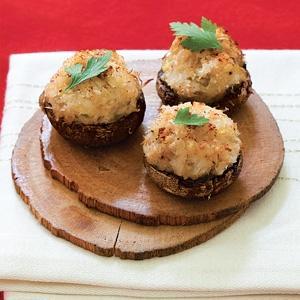 Crab-Stuffed Mushroom Caps