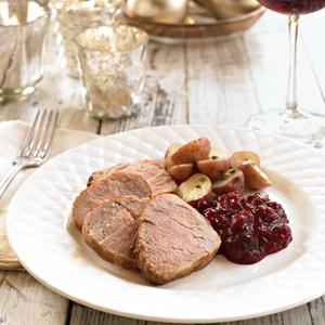 Broiled Pork Tenderloin with Cranberry-Mustard Sauce