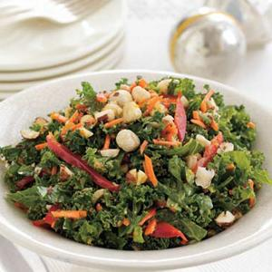 Carrot-Kale Slaw with Hazelnut Dressing