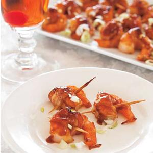 Asian BBQ Bacon-Wrapped Shrimp