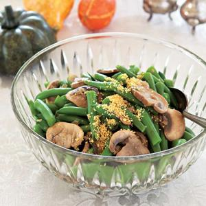 Green Bean and Mushroom Marsala