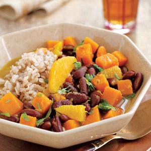 Kidney Bean and Butternut Stew with Oranges