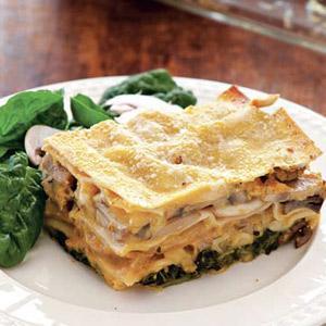 Butternut Squash Lasagna with Chicken Sausage
