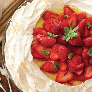 Strawberry Citrus Pavlova