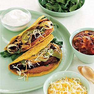 Grilled Sweet Onion and Portabella Tacos