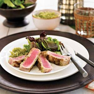 Grilled Tuna with Bajan Seasoning