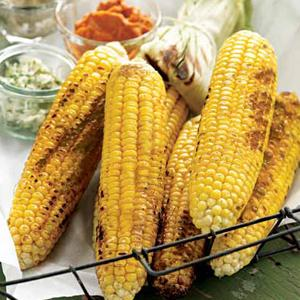 Grilled Corn on the Cob with Flavored Butters
