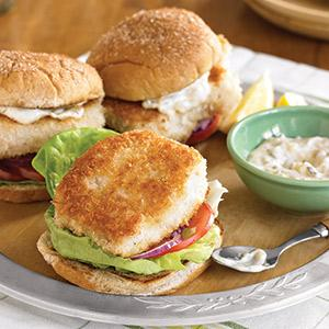 """Fried"" Fish Sandwiches"