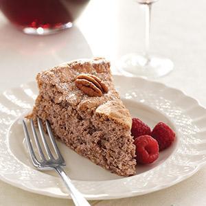 Red Wine Pecan Passover Cake