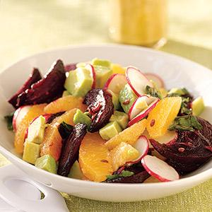 Beet, Avocado, Orange Salad
