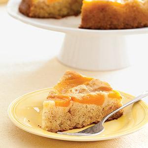 Honey Peach Upside-Down Cake