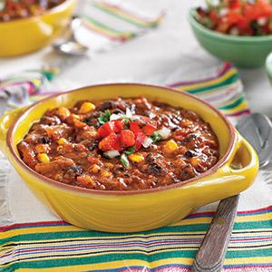 Fiesta Veggies Black Bean Soup