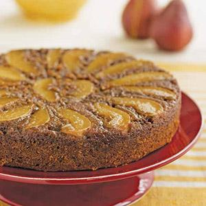 Pear Upside-Down Spice Cake