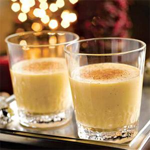 Light and creamy eggnog