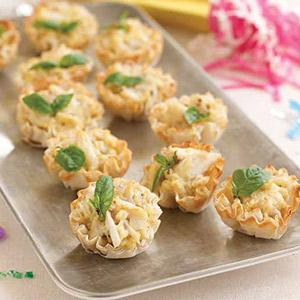 Citrusy Crab Tartlets