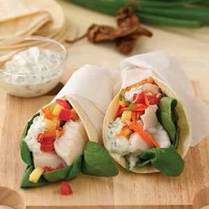 Fish Tacos With Chipotle Yogurt Sauce
