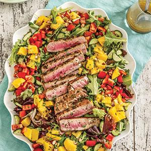 Grilled Tuna With Tropical Salad