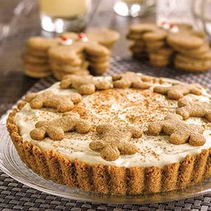 Eggnog Custard Tart With Gingersnap Crust