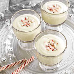 White Chocolate Peppermint Mousse