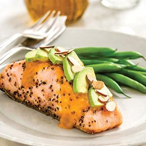 Taste of Inspirations Olive Oil Roasted Salmon with Smoky Mango Sauce