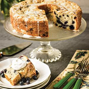 Sour Cream Blueberry Pound Cake