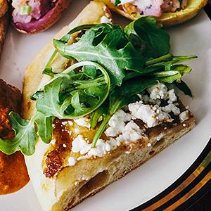 Goat Cheese and Arugula Flatbread