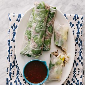 Spicy Chicken and Soba Noodle Summer Rolls