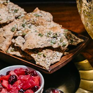 Rustic Seeded Crackers